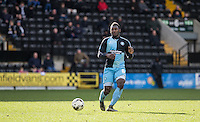 Aaron Pierre of Wycombe Wanderers plays a pass during the Sky Bet League 2 match between Notts County and Wycombe Wanderers at Meadow Lane, Nottingham, England on 28 March 2016. Photo by Andy Rowland.