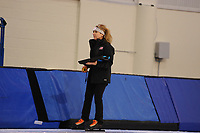 SPEEDSKATING: SALT LAKE CITY: 06-12-2017, Utah Olympic Oval, ISU World Cup, training, Nancy Swider-Peltz (trainer/coach), photo Martin de Jong