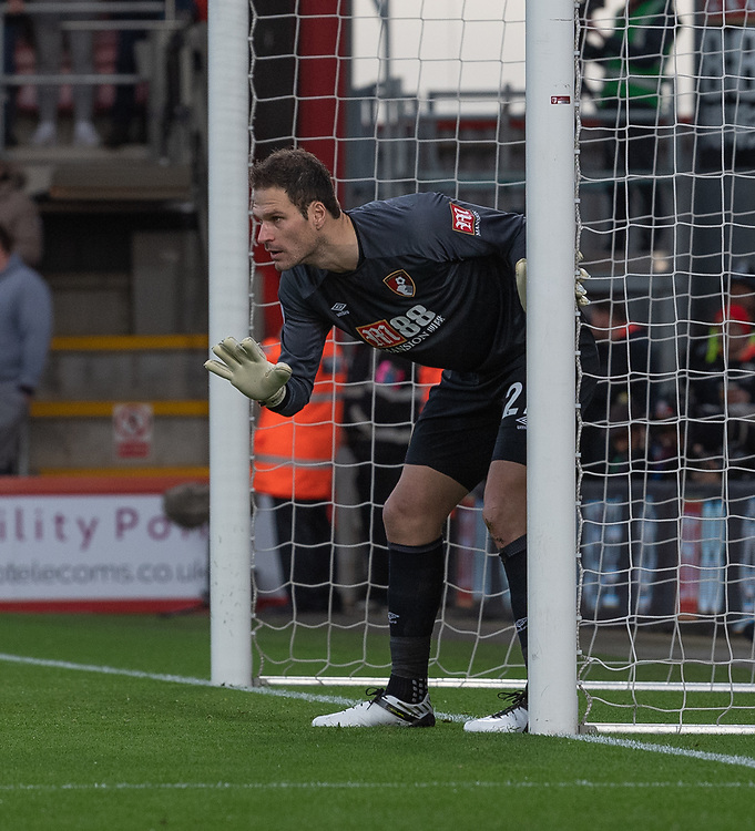 Bournemouth's Asmir Begovic <br /> <br /> Photographer David Horton/CameraSport<br /> <br /> The Premier League - Bournemouth v Brighton and Hove Albion - Saturday 22nd December 2018 - Vitality Stadium - Bournemouth<br /> <br /> World Copyright © 2018 CameraSport. All rights reserved. 43 Linden Ave. Countesthorpe. Leicester. England. LE8 5PG - Tel: +44 (0) 116 277 4147 - admin@camerasport.com - www.camerasport.com