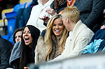 St Johnstone v Dunfermline....25.02.12   SPL.Lee Croft's girlfriend Maria Fowler having fun.Picture by Graeme Hart..Copyright Perthshire Picture Agency.Tel: 01738 623350  Mobile: 07990 594431