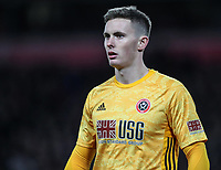2nd January 2020; Anfield, Liverpool, Merseyside, England; English Premier League Football, Liverpool versus Sheffield United; Sheffield United goalkeeper Dean Henderson - Strictly Editorial Use Only. No use with unauthorized audio, video, data, fixture lists, club/league logos or 'live' services. Online in-match use limited to 120 images, no video emulation. No use in betting, games or single club/league/player publications