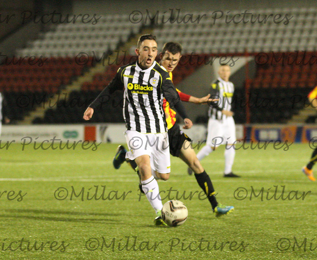 Anton Brady in the St Mirren v Partick Thistle Scottish Professional Football League Under 20 match played at the Excelsior Stadium, Airdrie on 19.11.13.