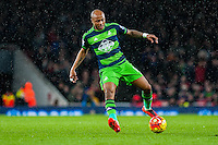 Andre Ayew of Swansea City  in action during the Barclays Premier League match between Arsenal and Swansea City at the Emirates Stadium, London, UK, Wednesday 02 March 2016