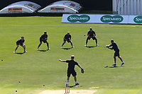 Yorkshire warm up ahead of the start of play during Kent CCC vs Yorkshire CCC, Specsavers County Championship Division 1 Cricket at the St Lawrence Ground on 15th May 2019