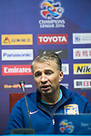 Jiangsu Sainty (CHN) coach and player Alex Teixeira give a press conference after the match Jiangsu Sainty (CHN) vs Becamex Binh Duong (VIE) during their AFC Champions League Group E match on 20 April 2016 at the Olympic Sports Centre in Nanjing, China. Photo by Lucas Schifres / Power Sport Images