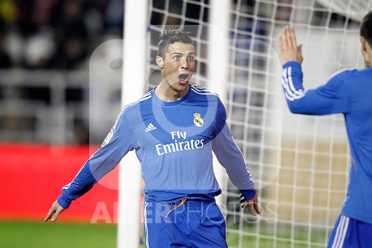 Real Madrid's Cristiano Ronaldo celebrates goal during La Liga match.November 22,2013. (ALTERPHOTOS/Acero)