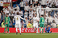 6th February 2020; Estadio Santiago Bernabeu, Madrid, Spain; Copa Del Rey Football, Real Madrid versus Real Sociedad; Jose I. Fernandez, NACHO (Real Madrid) celebrates after he scored to make it 3-4 in the 93rd minute