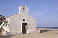 - Sardinia, little church on the beach of La Caletta, municipality of Posada....- Sardegna, chiesetta sulla spiaggia di la Caletta , comune di Posada..
