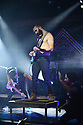 FORT LAUDERDALE, FL - FEBRUARY 11: Guitarist Misha Mansoor and Guitarist Jake Bowen of Periphery performs with guest guitarist (C) at Revolution Live on February 11, 2020 in Fort Lauderdale, Florida.  ( Photo by Johnny Louis / jlnphotography.com )