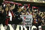 30 October 2004: DC fans celebrate after the game. DC United defeated the MetroStars 2-0 at RFK Stadium in Washington, DC in the second leg of their Major League Soccer Eastern Conference Semifinal playoff series. United eliminated the MetroStars 4-0 on aggregate goals..