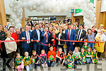 Garvey's Opening: Mary O'Hanlon of Listowel's Tidy town committee cutting the ribbon at the opening of Garvey's Super Value revamped store in Listowel on Thursday last.