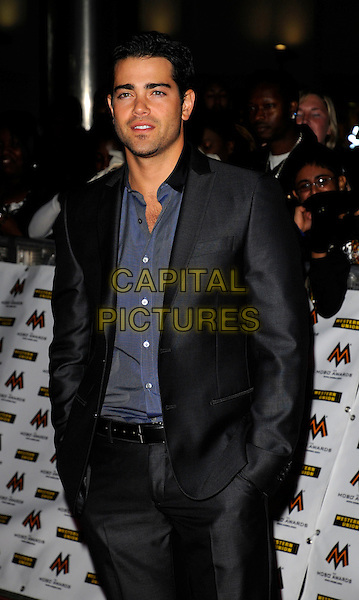 JESSE METCALFE.MOBO Awards at Wembley Arena, London, England. .October 15th, 2008 .MOBOS music of black origin half length grey gray suit hands in pocket blue shirt.CAP/CAN.©Can Nguyen/Capital Pictures.