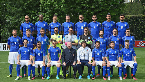 01.06.2016. Coverciano, Florence, Italy. The Italian national football team of 23 get together for the Euro 2016 tournament