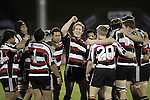 The Steelers celebrate their first win as the final whistle is blown during the Air NZ Cup game between the Counties Manukau Steelers and Southland played at Mt Smart Stadium on 3rd September 2006. Counties Manukau won 29 - 8.