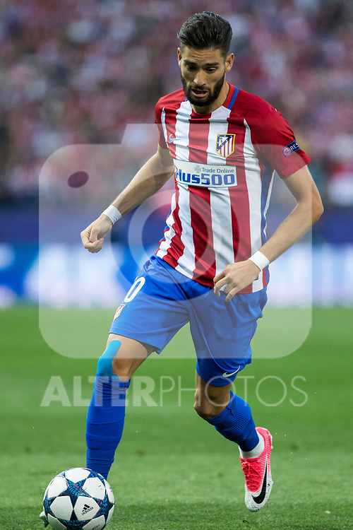 Yannick Ferreira Carrasco of Atletico de Madrid  during the match of  Champions LEague between  Atletico de Madrid and LEicester City Football Club at Vicente Calderon  Stadium  in Madrid, Spain. April 12, 2017. (ALTERPHOTOS / Rodrigo Jimenez)