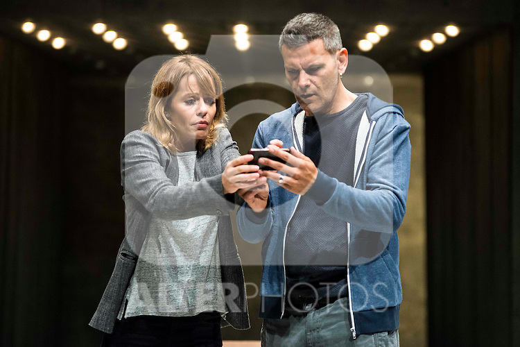"Maria Adanez and Roberto Enriquez during the theater play of ""El Pequeño Poni"" at Teatro Bellas Artes in Madrid. August 16, Spain. 2016. (ALTERPHOTOS/BorjaB.Hojas)"