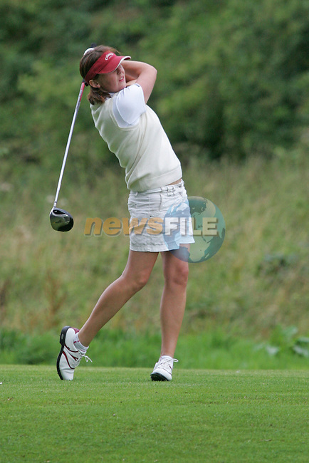 Ulster Naoimh Quigg teeing off buring the Ladies Interprovincial Matches 2006 in Headford Golf Club in Co Meath..Photo NEWSFILE/FRAN CAFFREY..(Photo credit should read FRAN CAFFREY/NEWSFILE)...This Picture has been sent you under the condtions enclosed by:.Newsfile Ltd..the Studio,.Millmount Abbey,.Drogheda,.Co Meath..Ireland..Tel: +353(0)41-9871240.Fax: +353(0)41-9871260.GSM: +353(0)86-2500958.email: pictures@newsfile.ie.www.newsfile.ie.FTP: 193.120.102.198..This picture is from Fran Caffrey@newsfile.ie