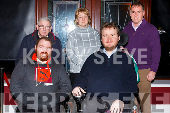 Attending the Muscular Dystrophy Fundraiser in O'Donnell's Bar on Friday night last. Front l-r, Ger Daly (Ballyfinane) and Patrick Flanagan (Muscular Dystrophy Ireland).<br /> Back l-r, Maurice Daly (Ballyfinane).Ann Marie Kealy (Firies) and Pat Flanagan (Firies).