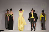 Collection by Goni Grupper of Istituto Marangoni. Graduate Fashion Week 2014, Runway Show at the Old Truman Brewery in London, United Kingdom. Photo credit: Bettina Strenske