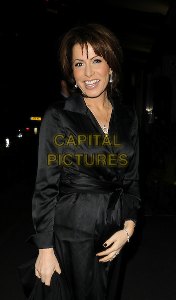 NATASHA KAPLINSKY.The RTS TV Journalism Awards 2008, Hilton Park Lane Hotel, Park Lane, London, England..February 26th, 2009.half length black silk satin jacket mac  kaplinski .CAP/CAN.©Can Nguyen/Capital Pictures.