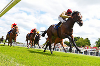 Winner of The Bathwick Tyres Novice Auction Stakes(plus 10, Div 1), Initiative ridden by Dane O'Neil and trained by Henry Spiller during Afternoon Racing at Salisbury Racecourse on 13th June 2017