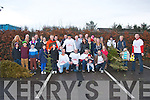 Pictured at the rear of Gally's, Tralee at the Christmas tree throwing competition on Sunday afternoon in aid of Crumlin Hospital for sick children.