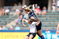 Cary, North Carolina  - Saturday July 01, 2017: Samantha Mewis and Sarah Killion during a regular season National Women's Soccer League (NWSL) match between the North Carolina Courage and the Sky Blue FC at Sahlen's Stadium at WakeMed Soccer Park. Sky Blue FC won the game 1-0.