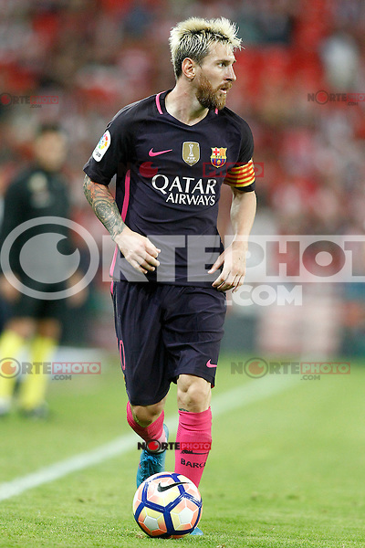 FC Barcelona's Leo Messi during La Liga match. August 28,2016. (ALTERPHOTOS/Acero) /NORTEPHOTO
