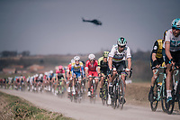 World Champion Peter Sagan (SVK/Bora-Hansgrohe) over the 'Plugstreets' gravel sections<br /> <br /> 81st Gent-Wevelgem in Flanders Fields (1.UWT)<br /> Deinze &gt; Wevelgem (251km)
