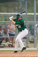 Babson Beavers pinch hitter Zack Sette (22) during a game against the Edgewood Eagles on March 18, 2019 at Lee County Player Development Complex in Fort Myers, Florida.  Babson defeated Edgewood 23-7.  (Mike Janes/Four Seam Images)