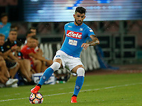 Elseid Hysaj  during the friendly soccer match,between SSC Napoli and Onc Nice      at  the San  Paolo   stadium in Naples  Italy , August 01, 2016<br />  during the friendly soccer match,between SSC Napoli and Onc Nice      at  the San  Paolo   stadium in Naples  Italy , August 02, 2016