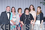 Killarney Mayor Paddy Courtney and wife Mary, Margaret O'Sullivan, Lisa Geaney, Andrea Corkery and Mairead O'Sullivan at the Kerry Stars black tie ball in the Malton Hotel on Friday night