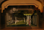 'Sunday in the Park with George' Set Model at Curtain Up: Celebrating the Last 40 Years of Theatre in New York and London Exhibition on June 14, 2017 at the New York Public Library for the Performing Arts at Lincoln Center.