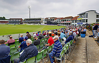 A decent crowd looks on during the Royal London One Day Cup game between Kent and Glamorgan at the St Lawrence Ground, Canterbury, on May 25, 2018