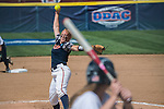 30 MAY 2016: Alaina Kissinger (23) of University of Texas-Tyler delivers a pitch against Messiah College during the Division III Women's Softball Championship held at the James I Moyer Sports Complex in Salem, VA.  University of Texas-Tyler defeated Messiah College 7-0 for the national title. Don Petersen/NCAA Photos