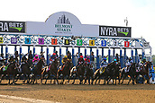 June 10th 2017; Hempstead, New York, USA;  The start of the running of the 149th Belmont Stakes on June 10, 2017 at Belmont Park in Hempstead, NY.