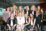 Enjoying a night at the Dogs Hen Party at the Kingdom Greyhound Stadium on Friday from Dublin were front l-r Ann Firth, Elaine Firth, Karren Mahon, Tammy Darcy, Back l-r Nuala Byrne, Caoimhe Byrne, Ciara Edly, Kelly Tore, Aisling Murray, Siobhan Firth