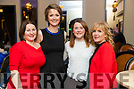 Julie Quirke, Sarah O'Neill, Kerina Mangan and Imelda McGarry, enjoying Ballymac Strictly Come Dancing, at Ballygarry House Hotel & Spa, Tralee, on Saturday night last.
