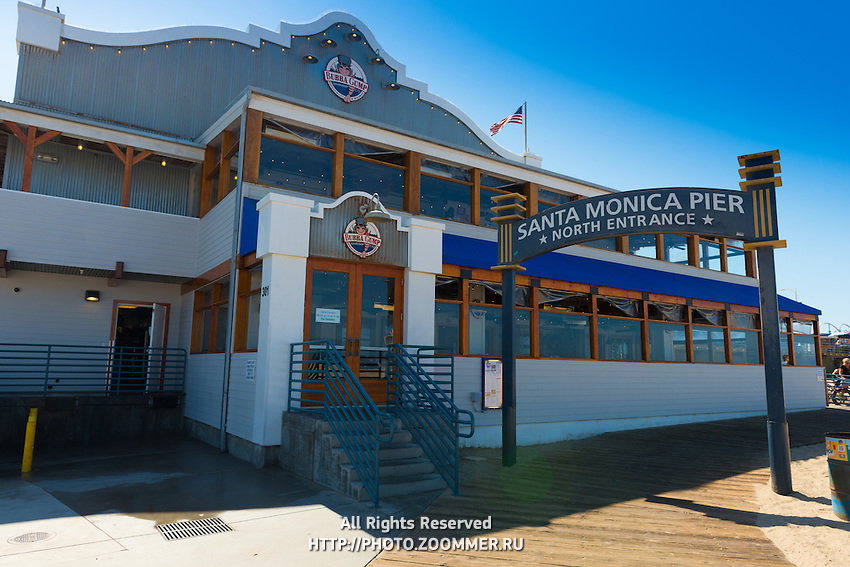 Santa Monica pier in Los Angeles, California