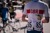 back-up banana for Alfred George (GBR)<br /> <br /> MEN JUNIOR ROAD RACE<br /> Kufstein to Innsbruck: 132.4 km<br /> <br /> UCI 2018 Road World Championships<br /> Innsbruck - Tirol / Austria