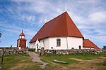 St. Anne Church by the Baltic Sea on the Island of Kökar in Åland