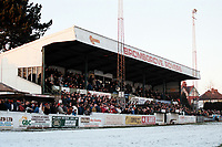 The main stand at Bromsgrove Rovers FC Football Ground, Victoria Ground, Bromsgrove, Worcestershire, pictured on 2nd January 1995