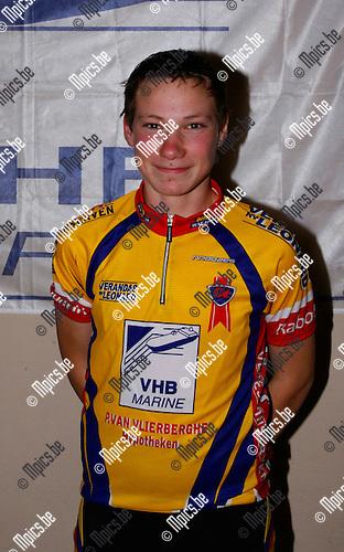 30/01/2009 ; wielrennen ; Hoboken WAC ; Persvoorstelling 2009 ; Nieuwelingen ; Kurt Michielsen