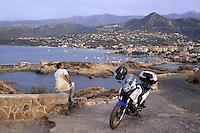 - Corsica, Ile Rousse, view of the city from de la Pietra island<br /> <br /> - Corsica, Ile Rousse, veduta della citt&agrave; da l'isola de la Pietra