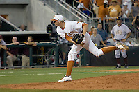 Texas Longhorn pitcher Corey Knebel #29 delivers in the ninth inning against the Arizona State Sun Devils  in NCAA Tournament Super Regional Game #3 on June 12, 2011 at Disch Falk Field in Austin, Texas. (Photo by Andrew Woolley / Four Seam Images)