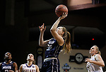 SIOUX FALLS, SD: MARCH 19:  Taylor Cunningham #22 of MSU Billings shoots during their game against Ashland at the 2018 Division II Women's Elite 8 Basketball Championship at the Sanford Pentagon in Sioux Falls, S.D. (Photo by Dick Carlson/Inertia)
