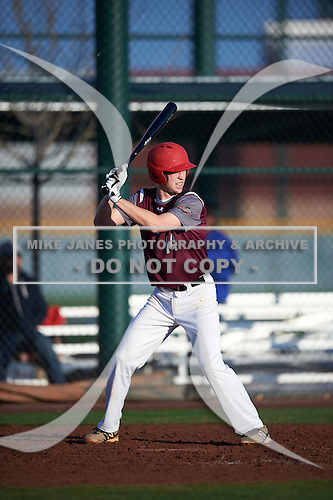 Luke Nagy (14) of Cy Woods High School in Cypress, Texas during the Under Armour All-American Pre-Season Tournament presented by Baseball Factory on January 14, 2017 at Sloan Park in Mesa, Arizona.  (Mike Janes/Mike Janes Photography)
