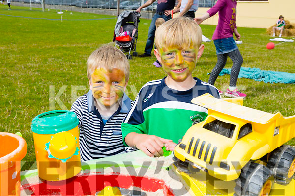 L-r Fintan Rogers and Shane Rogers enjoying the NA GAEIL GAA, family fun day on Sunday