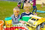 L-r Fintan Rogers and Shane Rogers enjoying the NA GAEIL GAA, family fun day on Sunday