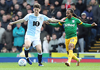 Blackburn Rovers' Richard Smallwood holds off the challenge from Preston North End's Daniel Johnson<br /> <br /> Photographer Rich Linley/CameraSport<br /> <br /> The EFL Sky Bet Championship - Blackburn Rovers v Preston North End - Saturday 9th March 2019 - Ewood Park - Blackburn<br /> <br /> World Copyright © 2019 CameraSport. All rights reserved. 43 Linden Ave. Countesthorpe. Leicester. England. LE8 5PG - Tel: +44 (0) 116 277 4147 - admin@camerasport.com - www.camerasport.com